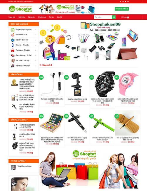 Mẫu website bán đồ dùng các loại cho gia đình