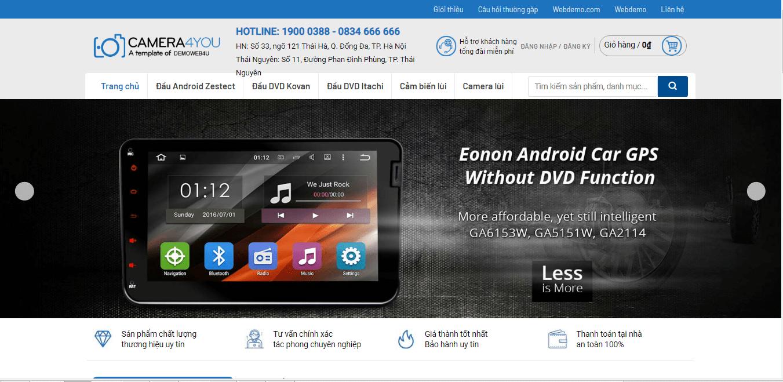Mẫu webiste bán camera 2
