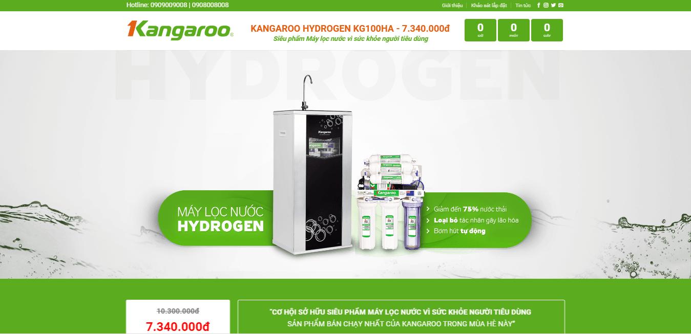Mẫu website bán máy lọc nước
