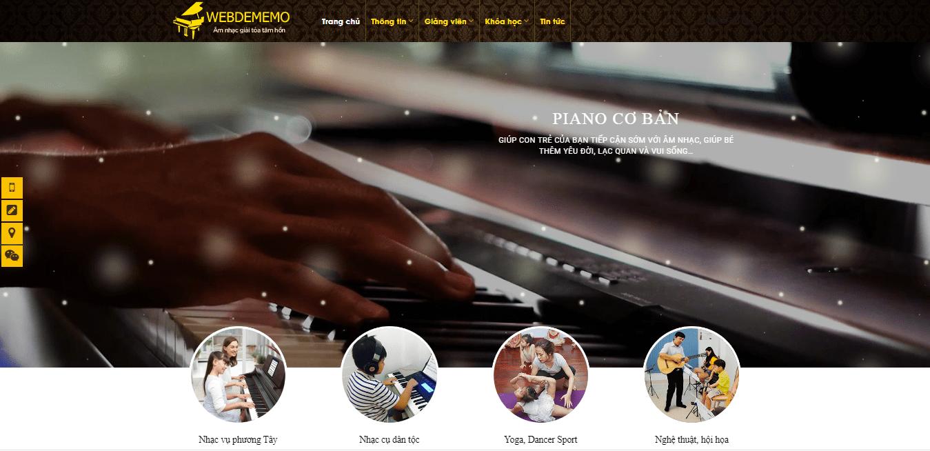 Mẫu website pianocenter